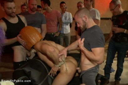 Photo number 10 from HAPPY HALLOWEEN! - Halloween Whore Gang Fucked by the Horny Crowd shot for Bound in Public on Kink.com. Featuring Ray Han, Adam Herst and Big Red in hardcore BDSM & Fetish porn.