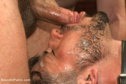 Photo number 13 from Bound hunk with an uncut cock gets gangfucked by a crowd of horny men shot for Bound in Public on Kink.com. Featuring Ray Han, Adam Herst and Big Red in hardcore BDSM & Fetish porn.
