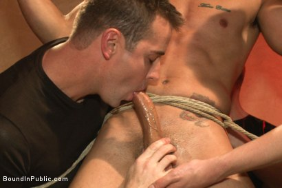 Photo number 1 from Bound hunk with an uncut cock gets gangfucked by a crowd of horny men shot for Bound in Public on Kink.com. Featuring Ray Han, Adam Herst and Big Red in hardcore BDSM & Fetish porn.