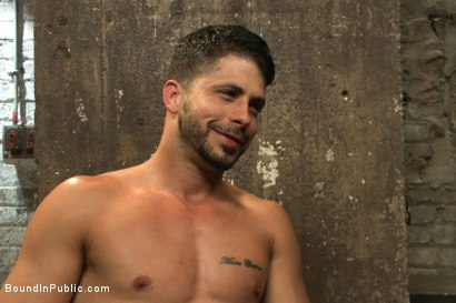 Photo number 15 from Bound hunk with an uncut cock gets gangfucked by a crowd of horny men shot for Bound in Public on Kink.com. Featuring Ray Han, Adam Herst and Big Red in hardcore BDSM & Fetish porn.