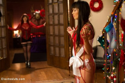 Photo number 1 from An Electrosluts Christmas with Mz Berlin shot for Electro Sluts on Kink.com. Featuring Mz Berlin and Milcah Halili in hardcore BDSM & Fetish porn.