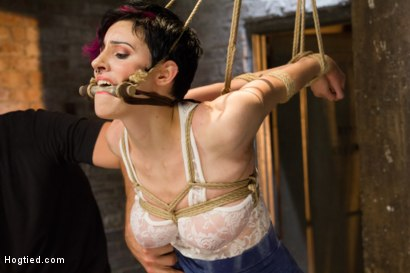 Photo number 2 from Requests Fulfilled: Impossible Bondage Positions shot for Hogtied on Kink.com. Featuring Iona Grace in hardcore BDSM & Fetish porn.