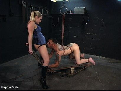 Photo number 6 from Hard Challenges shot for Captive Male on Kink.com. Featuring Rico and Harmony in hardcore BDSM & Fetish porn.