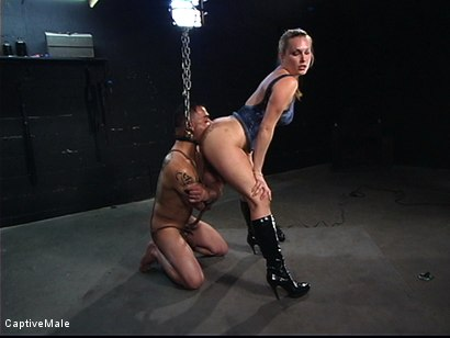 Photo number 9 from Hard Challenges shot for Captive Male on Kink.com. Featuring Rico and Harmony in hardcore BDSM & Fetish porn.