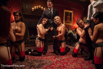 Photo number 1 from Masquerade Orgy with Nine Slaves,100 Horny Guests, Part Two shot for The Upper Floor on Kink.com. Featuring Mickey Mod, Bella Rossi, Casey Calvert , Owen Gray, Alani Pi, Penny Barber, Dylan Ryan, Maestro, Beretta James, Nikki Darling, Simone Sonay and Penny Pax in hardcore BDSM & Fetish porn.