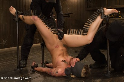 Photo number 12 from Dahlia Sky aka Bailey Blue, Destroyed by Brutality shot for Device Bondage on Kink.com. Featuring Dahlia Sky and Orlando in hardcore BDSM & Fetish porn.