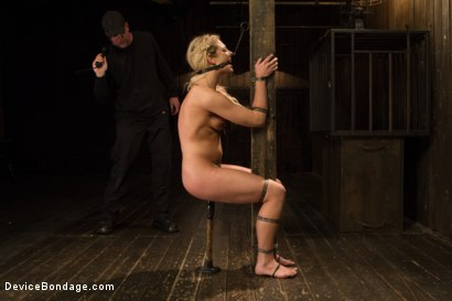 Photo number 6 from Dahlia Sky aka Bailey Blue, Destroyed by Brutality shot for Device Bondage on Kink.com. Featuring Dahlia Sky and Orlando in hardcore BDSM & Fetish porn.