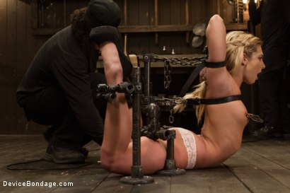 Photo number 2 from Dahlia Sky aka Bailey Blue, Destroyed by Brutality shot for Device Bondage on Kink.com. Featuring Dahlia Sky and Orlando in hardcore BDSM & Fetish porn.