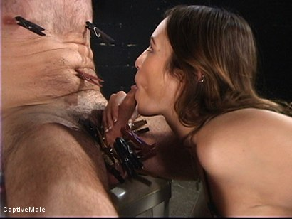 Photo number 8 from An Inordinate Amount Of Pain shot for Captive Male on Kink.com. Featuring Amber Rayne and Wild Bill in hardcore BDSM & Fetish porn.