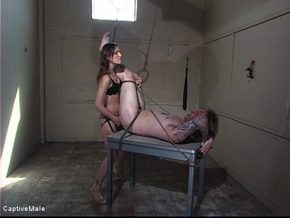 Photo number 12 from Bitchboy's Ordeal shot for Captive Male on Kink.com. Featuring Amber Rayne and Ryan Knox in hardcore BDSM & Fetish porn.