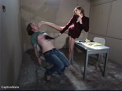 Photo number 2 from Bitchboy's Ordeal shot for Captive Male on Kink.com. Featuring Amber Rayne and Ryan Knox in hardcore BDSM & Fetish porn.