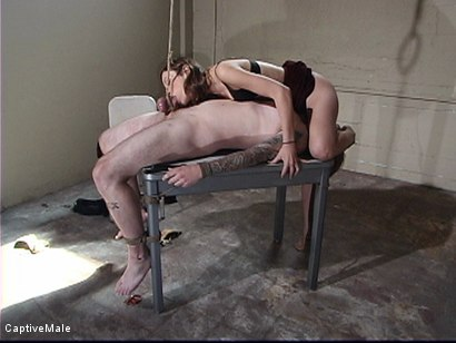 Photo number 5 from Bitchboy's Ordeal shot for Captive Male on Kink.com. Featuring Amber Rayne and Ryan Knox in hardcore BDSM & Fetish porn.