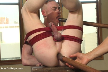 Hot rocker dude oozes pre-cum as he's ass fucked & edged