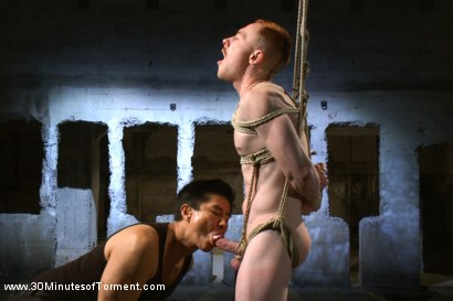 Photo number 3 from Damien Moreau takes the ultimate challenge and begs for more! shot for 30 Minutes of Torment on Kink.com. Featuring Damien Moreau in hardcore BDSM & Fetish porn.