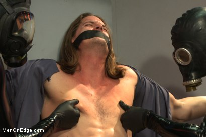 Photo number 1 from Straight stud with a big fat cock taken and milked by perverted aliens shot for Men On Edge on Kink.com. Featuring Kip Johnson in hardcore BDSM & Fetish porn.