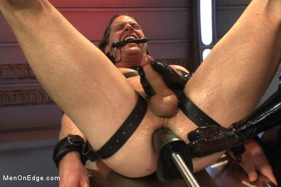 Photo number 11 from Straight stud with a big fat cock taken and milked by perverted aliens shot for Men On Edge on Kink.com. Featuring Kip Johnson in hardcore BDSM & Fetish porn.