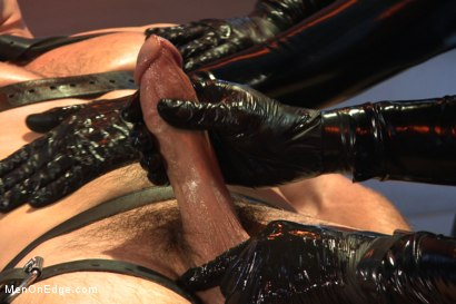 Photo number 7 from Straight stud with a big fat cock taken and milked by perverted aliens shot for Men On Edge on Kink.com. Featuring Kip Johnson in hardcore BDSM & Fetish porn.