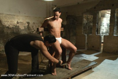 Photo number 14 from Straight Stud - The Chair - The Pit - The Water Chamber shot for 30 Minutes of Torment on Kink.com. Featuring Andrew Fitch in hardcore BDSM & Fetish porn.