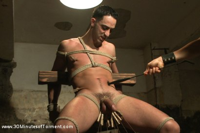 Photo number 3 from Straight Stud - The Chair - The Pit - The Water Chamber shot for 30 Minutes of Torment on Kink.com. Featuring Andrew Fitch in hardcore BDSM & Fetish porn.