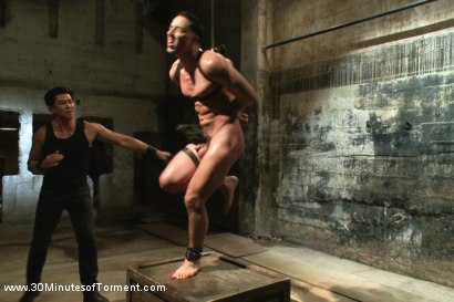Photo number 5 from Straight Stud - The Chair - The Pit - The Water Chamber shot for 30 Minutes of Torment on Kink.com. Featuring Andrew Fitch in hardcore BDSM & Fetish porn.