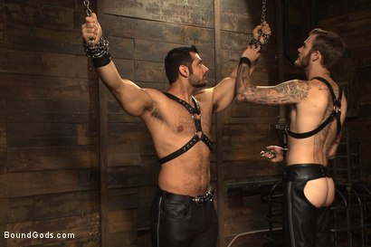 Photo number 1 from Mr Wilde binds and fucks a muscled body builder with an uncut cock shot for Bound Gods on Kink.com. Featuring Christian Wilde and Marcus Ruhl in hardcore BDSM & Fetish porn.