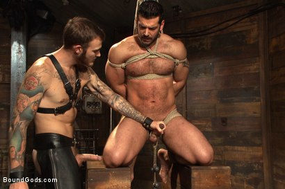 Photo number 11 from Mr Wilde binds and fucks a muscled body builder with an uncut cock shot for Bound Gods on Kink.com. Featuring Christian Wilde and Marcus Ruhl in hardcore BDSM & Fetish porn.