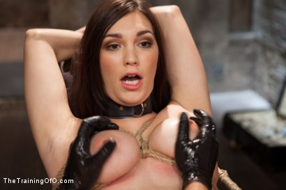 Photo number 11 from The Training of an Undisciplined Little Fuck Toy, Day One shot for The Training Of O on Kink.com. Featuring Holly Michaels in hardcore BDSM & Fetish porn.