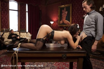 Photo number 10 from Two Beautiful Cock Sluts Entertain the Sunday Brunch Crowd shot for The Upper Floor on Kink.com. Featuring Owen Gray, Bonnie Day  and Belle Noire in hardcore BDSM & Fetish porn.