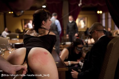 Photo number 3 from Two Beautiful Cock Sluts Entertain the Sunday Brunch Crowd shot for The Upper Floor on Kink.com. Featuring Owen Gray, Bonnie Day  and Belle Noire in hardcore BDSM & Fetish porn.