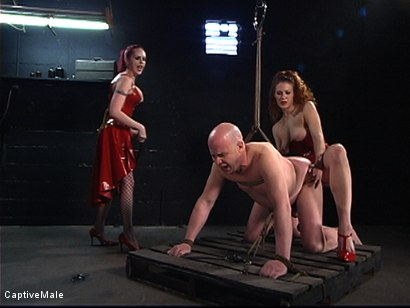 Photo number 15 from The Rubber Toy shot for Captive Male on Kink.com. Featuring Mz Berlin, Patrick Andraste and Sabrina Fox in hardcore BDSM & Fetish porn.