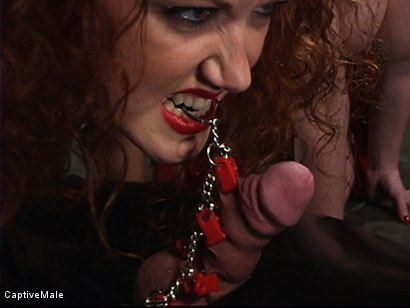 Photo number 6 from The Rubber Toy shot for Captive Male on Kink.com. Featuring Mz Berlin, Patrick Andraste and Sabrina Fox in hardcore BDSM & Fetish porn.