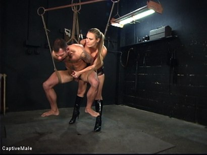 Photo number 11 from The Client shot for Captive Male on Kink.com. Featuring Harmony and Dak Ramsey in hardcore BDSM & Fetish porn.