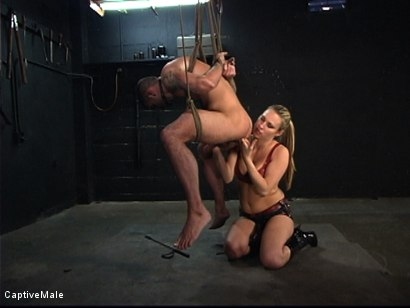 Photo number 14 from The Client shot for Captive Male on Kink.com. Featuring Harmony and Dak Ramsey in hardcore BDSM & Fetish porn.
