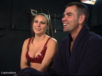 Photo number 16 from The Client shot for Captive Male on Kink.com. Featuring Harmony and Dak Ramsey in hardcore BDSM & Fetish porn.