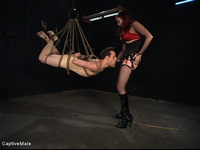 Photo number 6 from Pathetic Bitch Boy shot for Captive Male on Kink.com. Featuring Mz Berlin and Max Powers in hardcore BDSM & Fetish porn.