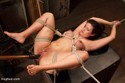 Photo number 10 from Busty MILF's hot little mouth gets her in trouble shot for Hogtied on Kink.com. Featuring Penny Barber in hardcore BDSM & Fetish porn.