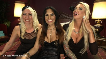 Photo number 15 from The QueenPin, The Fox & The Little Bird: Punishing a Narc in Sex Sting shot for TS Pussy Hunters on Kink.com. Featuring Lorelei Lee, TS Foxxy and Courtney Taylor in hardcore BDSM & Fetish porn.