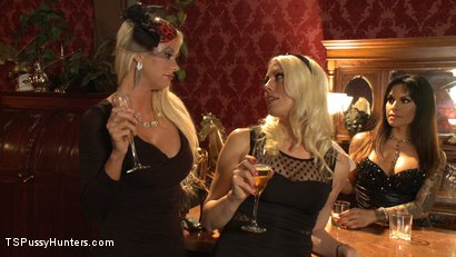 Photo number 2 from The QueenPin, The Fox & The Little Bird: Punishing a Narc in Sex Sting shot for TS Pussy Hunters on Kink.com. Featuring Lorelei Lee, TS Foxxy and Courtney Taylor in hardcore BDSM & Fetish porn.