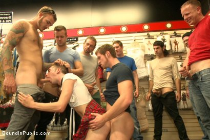 Photo number 12 from Bound stud whorred out at a local sex shop shot for Bound in Public on Kink.com. Featuring Tripp Townsend, Christian Wilde and Connor Maguire in hardcore BDSM & Fetish porn.