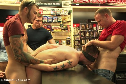 Photo number 10 from Bound stud whorred out at a local sex shop shot for Bound in Public on Kink.com. Featuring Tripp Townsend, Christian Wilde and Connor Maguire in hardcore BDSM & Fetish porn.