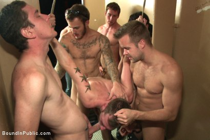 Photo number 10 from Bathroom pig whored out to the horny public shot for Bound in Public on Kink.com. Featuring Tripp Townsend, Christian Wilde and Connor Maguire in hardcore BDSM & Fetish porn.