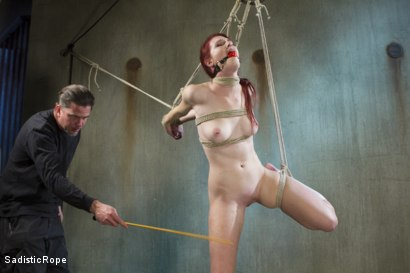 Photo number 2 from Fresh Meat - First Shoot Ever! shot for Sadistic Rope on Kink.com. Featuring Ashley Lane in hardcore BDSM & Fetish porn.