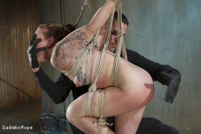 Photo number 5 from Taken to the Next Level - Extreme suffering, intense bondage, and squirting orgasms! shot for Sadistic Rope on Kink.com. Featuring Sahara Rain in hardcore BDSM & Fetish porn.