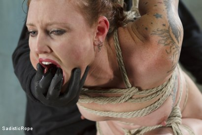 Photo number 6 from Taken to the Next Level - Extreme suffering, intense bondage, and squirting orgasms! shot for Sadistic Rope on Kink.com. Featuring Sahara Rain in hardcore BDSM & Fetish porn.