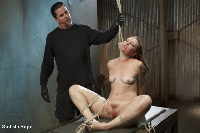 Photo number 8 from Taken to the Next Level - Extreme suffering, intense bondage, and squirting orgasms! shot for Sadistic Rope on Kink.com. Featuring Sahara Rain in hardcore BDSM & Fetish porn.