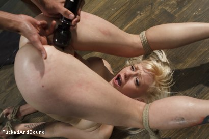 Photo number 8 from Cute Young Blonde Overwhelmed with Bondage and Cock shot for  on Kink.com. Featuring Mickey Mod and Elyssa Greene in hardcore BDSM & Fetish porn.