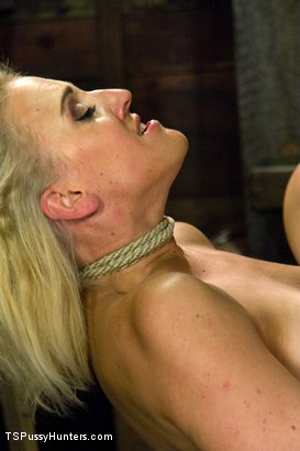 Photo number 5 from Ts Becca Dominates Dylan Ryan making her Squirt from Ass & Pussy Sex shot for TS Pussy Hunters on Kink.com. Featuring Becca Fatale and Dylan Ryan in hardcore BDSM & Fetish porn.