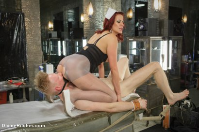 Photo number 6 from Maitresse And the City Part 2: The Hospital shot for Divine Bitches on Kink.com. Featuring Rob Yaeger and Maitresse Madeline Marlowe in hardcore BDSM & Fetish porn.
