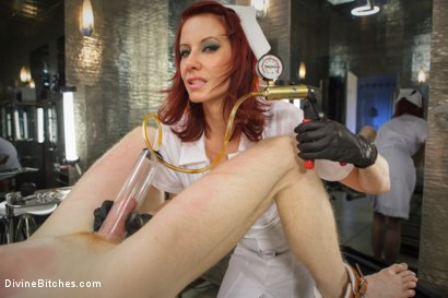 Photo number 2 from Maitresse And the City Part 2: The Hospital shot for Divine Bitches on Kink.com. Featuring Rob Yaeger and Maitresse Madeline Marlowe in hardcore BDSM & Fetish porn.