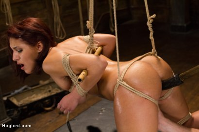 Photo number 13 from Awesome Ass Aguilera Get Rough Treatment on HogTied shot for Hogtied on Kink.com. Featuring Liv Aguilera in hardcore BDSM & Fetish porn.